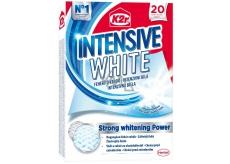 K2r Intensive White unikátní bělicí ubrousky působí proti zešednutí prádla a navrátí mu zářivou bílou barvu 20 ubrousků