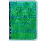 Albi Diář 2020 týdenní flitrový Zelený 19 x 13 x 0,7 cm