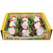 Hnízda s kuřátkem a vejci 5,5 cm 1 kus