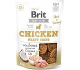 Brit Jerky Sušené masové pamlsky s hmyzem a kuřetem pro dospělé psy 80 g