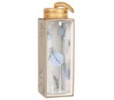 Albi Skleněná láhev s bambusovým víčkem Modré puntíky 500 ml