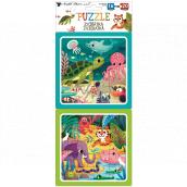 Puzzle Zvířátka 15 x 15 cm, 16 a 20 dílků, 2 obrázky