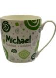 Nekupto Twister hrnek se jménem Michael zelený 0,4 litru 049 1 kus