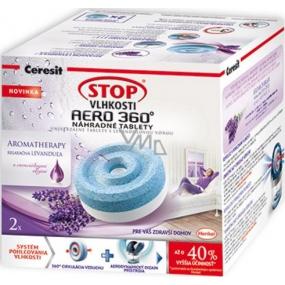 Ceresit Stop vlhkosti Aero 360 Relaxační levandule náhradní tablety 2 x 450 g