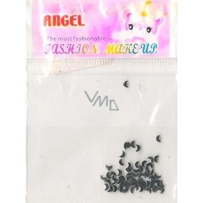 Angel Ozdoby na nehty měsíčky černé 1 balení