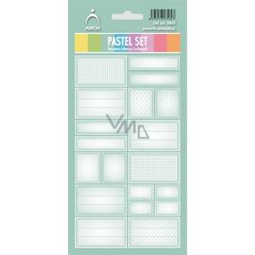 Arch Samolepky do domácnosti Pastelový set zelený 3563 12 etiket