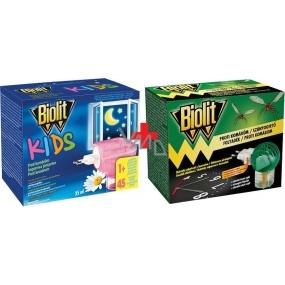 Biolit Elektrický odpařovač s časovačem a náplň 45 nocí proti komárům 35 ml + Biolit Kids Elektrický odpařovač a tekutá náplň 45 nocí proti komárům 35 ml