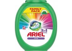 Ariel 3v1 Color gelové kapsle na barevné prádlo chrání a oživují barvy 80 x 27 g