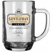 Nekupto Liga Pravých Gentlemanů Pivní sklenice Gentleman není jen legendou, ty jsi jedním z nich 14,5 x 13 x 10 cm