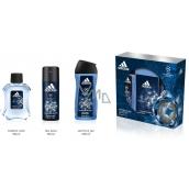 Adidas UEFA Champions League Champions Edition toaletní voda pro muže 100 ml + deodorant sprej 150 ml + sprchový gel 250 ml, dárková sada