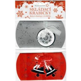 Nekupto Skládací krabička vánoční 2 kusy 140 x 75 x 25 mm 001 IK
