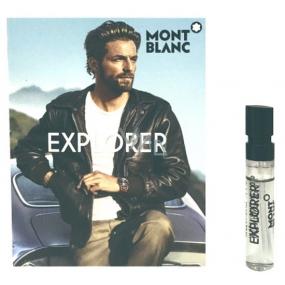 Montblanc Explorer parfémovaná voda pro muže 2 ml s rozprašovačem, Vialka
