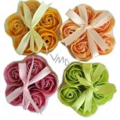 NeoCos Mýdlová růže konfety světle oranžové 5 kusů x 3 g, dárkové balení