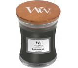 WoodWick Black Peppercorn - Černé zrnko pepře vonná svíčka s dřevěným knotem a víčkem sklo malá 85 g