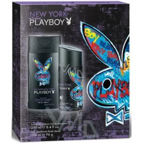 Playboy New York deodorant sprej 150 ml + sprchový gel 250 ml, kosmetická sada