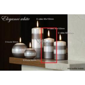 Lima Elegance White svíčka světle hnědá válec 50 x 100 mm 1 kus