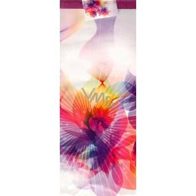 Nekupto Dárková papírová taška na láhev 36 x 12 x 9 cm Pestrobarevná kytka ALH