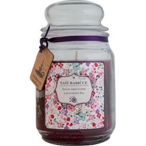 Bohemia Gifts & Cosmetics Babičce dárková vonná svíčka ve skle doba hoření 105 -120 hodin 510 g