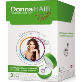 DonnaHair Forte 3 měsíční kúra pro zdravé a krásné vlasy 90 tobolek + přívěšek Swarovski Elements 2015