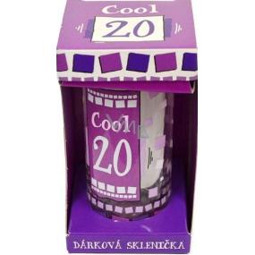 Nekupto Narozeninová sklenice Cool 20 12 cm