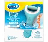 Scholl Velvet Smooth Wet & Dry dobíjecí bezdrátový elektrický pilník na chodidla