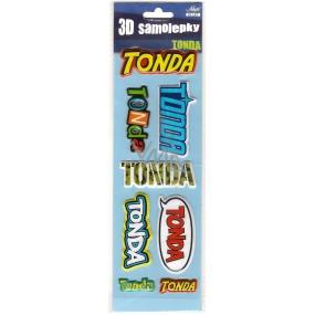 Nekupto 3D Samolepky se jménem Tonda 8 kusů 074