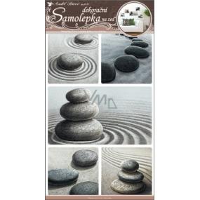 Room Decor Samolepky na zeď kameny v písku 50 x 32 cm