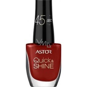 Astor Quick & Shine Nail Polish lak na nehty 626 Cherry Clafoutis 8 ml