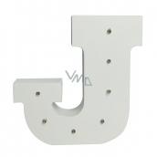 Nekupto Dřevěné LED písmeno J dekorace 16 cm, NLE 010