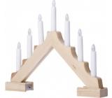 Emos Svícen dřevěný pyramida 38 x 29,5 cm, 7 LED teplá bílá + časovač