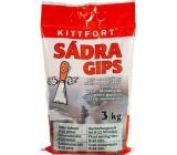 Kittfort Sádra Gips bílá - modelářská 3 kg