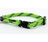 B&F Obojek Nylon zeleno-černý 1,0 x 18 - 2 8 cm