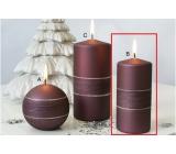 Lima Sparkling svíčka karmínová válec 60 x 120 mm