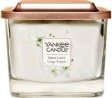 Yankee Candle Sheer Linen - Čisté prádlo sojová vonná svíčka Elevation střední sklo 3 knoty 347 g