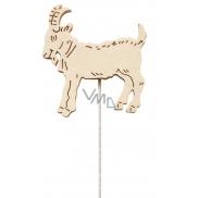 Koza dřevěná 8 cm bílá + drátek