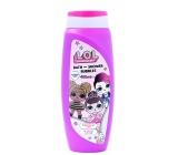 L.O.L. Surprise! 2v1 sprchový gel a koupelová pěna pro děti 400 ml