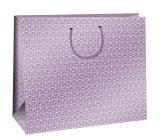 Ditipo Dárková papírová taška růžová, bílé ornamenty 38,3 x 10 x 29,2 cm QAA