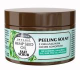 GlySkinCare Organický konopný olej solný peeling pro suchou pokožku 400 ml