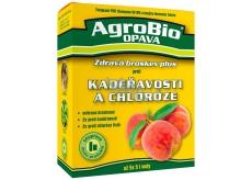 AgroBio Zdravá broskev Plus Champion 50 WG 2 x 20 g + Harmonie Železo 30 ml pro ošetření broskvoní proti kadeřavosti a chloróze listů, souprava dvou produktů