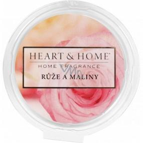 Heart & Home Růže a maliny Sojový přírodní vonný vosk 26 g
