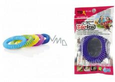Trixline Repelentní voděodolný náramek - gumička proti klíšťatům Eukalyptus1 kus, TR 248 náhodný výběr barvy