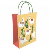 Nekupto Dárková kraftová taška 18 x 24 x 8 cm Lamy a kaktusy 523 KKM