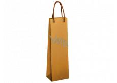 Ditipo Dárková papírová taška na láhev 12 x 9 x 39 cm EKO Přírodní hnědá