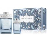 Bvlgari Man Glacial Essence parfémovaná voda pro muže 100 ml + parfémovaná voda 15 ml, dárková sada