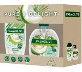 Palmolive Pure & Delight Coconut sprchový gel 250 ml + tekuté mýdlo 300 ml, kosmetická sada