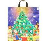Press Igelitová taška 47 x 41 cm s uchem vánoční stromeček 1 kus