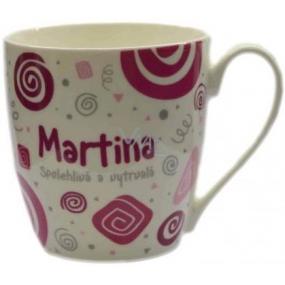 Nekupto Twister hrnek se jménem Martina růžový 0,4 litru 047 1 kus