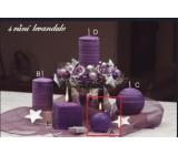 Lima Wellness Levandule aroma svíčka koule průměr 60 mm 1 kus