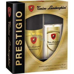Tonino Lamborghini Prestigio parfémovaný deodorant sklo pro muže 75 ml + deodorant sprej 150 ml, kosmetická sada