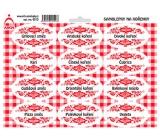 Arch Samolepky na kořenky s červeným ornamentem Grilovací směs - směsi koření (běžné) 0313